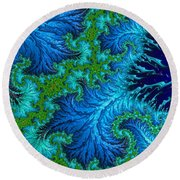 Fractal Art - Wading In The Deep Round Beach Towel