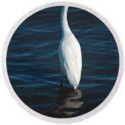 Wading Reflections Round Beach Towel