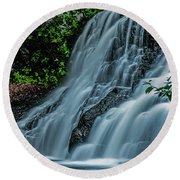 Wadsworth Falls 4 Round Beach Towel