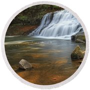 Wadsworth Falls Round Beach Towel