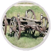 Wagon Aged Round Beach Towel