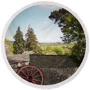 Wagon Wheel County Clare Ireland Round Beach Towel