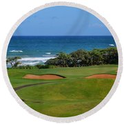 Wailua Golf Course - Hole 17 - 1 Round Beach Towel