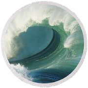 Waimea Bay Shorebreak Round Beach Towel