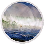 Waimea Bay Wave Round Beach Towel