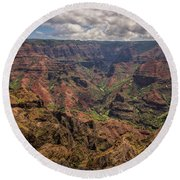 Waimea Canyon 7 - Kauai Hawaii Round Beach Towel