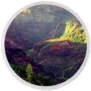 Waimea Canyon Round Beach Towel