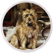 Waiting For Master   Round Beach Towel by Jane Bennett Constable