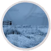 Waiting For Summer - Jersey Shore Round Beach Towel