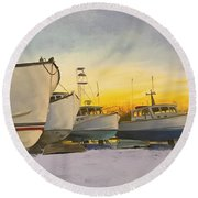 Waiting For Summer Round Beach Towel
