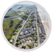 Waiting For You Topsail Island Round Beach Towel