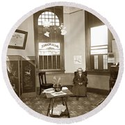 Waiting Room Of Dr. C. H. Pearce, D.d.s. Dentist, Watsonville,  Round Beach Towel