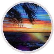 Wakulla Beach Morning Round Beach Towel