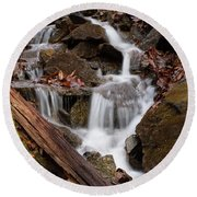 Walden Creek Cascade Round Beach Towel
