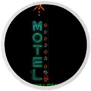 Walden Motel Las Vegas Round Beach Towel