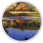 Walden Pond II Round Beach Towel
