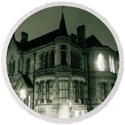 Waldorf College, The Centre For Science And Arts By Night Stround Gloucestershire Round Beach Towel