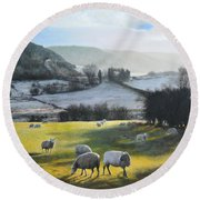 Wales. Round Beach Towel