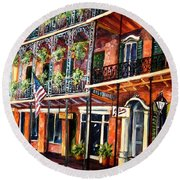 Walk In The French Quarter Round Beach Towel