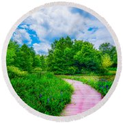 Walk Into Beauty Shaw's Nature Reserve Wet Lands Round Beach Towel