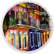 Walk Into The French Quarter Round Beach Towel
