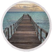 Walk On The Water Round Beach Towel