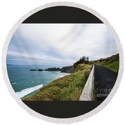 Walk To The End Of The Earth  Round Beach Towel