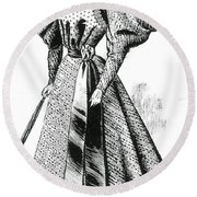 Walking Dress, 1890s Round Beach Towel