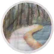 Walking The C And O Canal Round Beach Towel