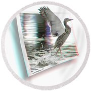 Walking On Water - Use Red-cyan 3d Glasses Round Beach Towel