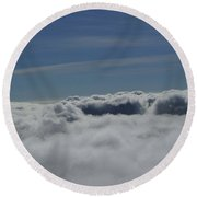 Walking The Clouds  Round Beach Towel