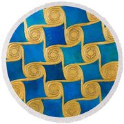 Wall Decoration From The Temple Of Amun At Malqata Round Beach Towel