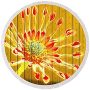 Wall Flower Round Beach Towel