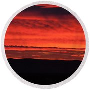 Wall Of Fire Round Beach Towel