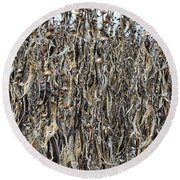 Wall Of Weeds - 2 Round Beach Towel