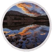 Wall Reflection Round Beach Towel by Chad Dutson