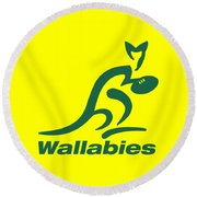 Wallabies Round Beach Towel