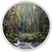 Wallace River Round Beach Towel