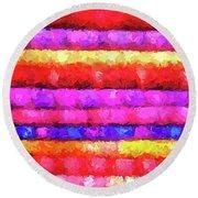 Wallart-multicolor Design Round Beach Towel
