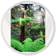 Walled Garden Round Beach Towel