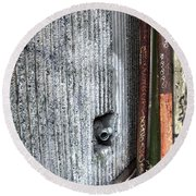 Walled Pipes Round Beach Towel