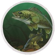 Walleye Round Beach Towel