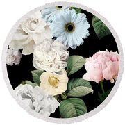 Wallflowers Round Beach Towel by Mindy Sommers