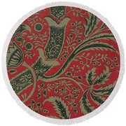 Wallpaper Sample With Bamboo Pattern By William Morris 1 Round Beach Towel