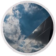 Walls Of Reflection Round Beach Towel