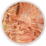 Walls Of Wash 3 In Valley Of Fire Round Beach Towel