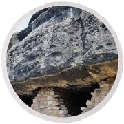 Walnut Canyon National Monument Cliff Dwellings Round Beach Towel