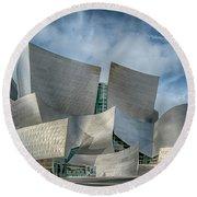 Walt Disney Concert Hall La Ca 7r2_dsc3465_17-01-17 Round Beach Towel