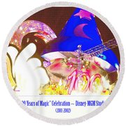 Walt Disney World 100 Years Of Magic Celebration 2001-2002 Round Beach Towel