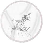 Walt Disney's Timothy Q. Mouse From The Movie Dumbo Round Beach Towel